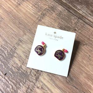 NWT Kate spade ♠️ vintage bottle earrings